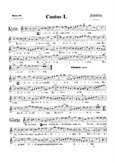 Assumpta est Maria: Soprano I part by Giovanni da Palestrina