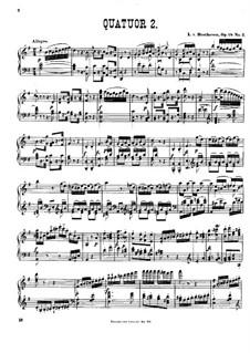 Quartett Nr.2 in G-Dur: Version für Klavier by Ludwig van Beethoven