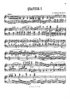 Streichquartett Nr.7 in F-Dur, Op.59 No.1: Version für Klavier by Ludwig van Beethoven