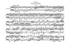 Sonate für Klavier, vierhändig in D-Dur, Op.6: Stimmen by Ludwig van Beethoven