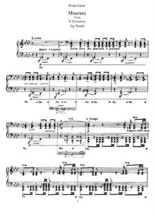 Transkription über Themen aus 'Il Trovatore' von Verdi, S.433: Für Klavier by Franz Liszt