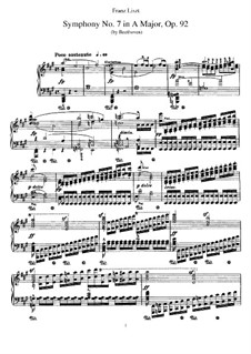 Vollständiger Sinfonie: Version for piano by F. Liszt by Ludwig van Beethoven