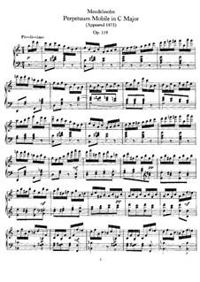 Perpetuum Mobile, Op.119: Für Klavier by Felix Mendelssohn-Bartholdy