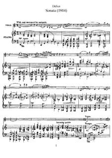 Sonate für Violine und Klavier: Partitur, Solostimme by Frederick Delius