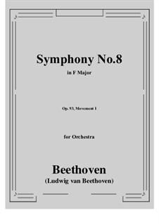 Teil I: Vollpartitur by Ludwig van Beethoven