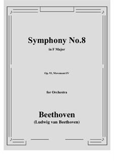 Teil IV: Vollpartitur by Ludwig van Beethoven