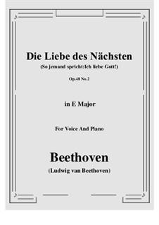 No.2 Die Liebe des Nächsten (So jemand spricht:Ich liebe Gott!): E Major by Ludwig van Beethoven