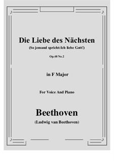 No.2 Die Liebe des Nächsten (So jemand spricht:Ich liebe Gott!): F-Dur by Ludwig van Beethoven