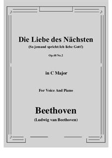 No.2 Die Liebe des Nächsten (So jemand spricht:Ich liebe Gott!): C-Dur by Ludwig van Beethoven