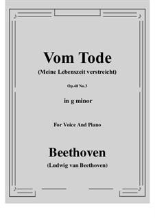 No.3 Vom Tode (Meine Lebenszeit verstreicht): G minor by Ludwig van Beethoven