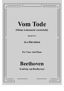 No.3 Vom Tode (Meine Lebenszeit verstreicht): A flat minor by Ludwig van Beethoven