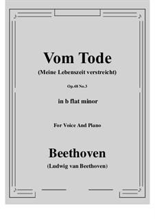 No.3 Vom Tode (Meine Lebenszeit verstreicht): B flat minor by Ludwig van Beethoven