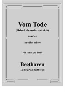 No.3 Vom Tode (Meine Lebenszeit verstreicht): E flat minor by Ludwig van Beethoven