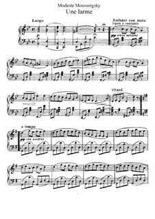 Träne: Für Klavier by Modest Mussorgski