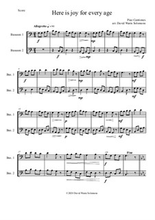 Variations on Here is joy for every age (Ecce Novum Gaudium - from Piae Cantiones): For 2 bassoons by folklore