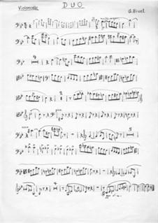 No.11 Petit Mari, Petite femme: For piano trio –  cello part by Georges Bizet