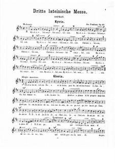 Lateinische Messe Nr.3 in D-Dur, Op.25: Sopranstimme by Josef Pembaur