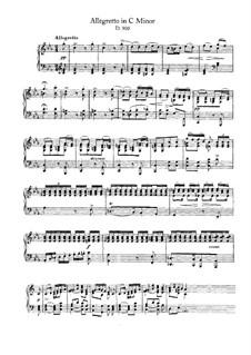 Allegretto für Klavier in c-Moll (Fragment), D.900: Für einen Interpreten by Franz Schubert