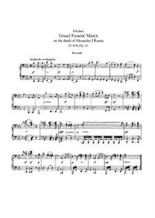 Trauermarsch für Klavier, vierhändig, D.859: Erste und zweite Stimme by Franz Schubert