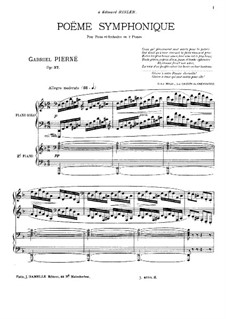 Sinfonische Poem, Op.37: Für zwei Klaviere, vierhändig by Gabriel Pierné