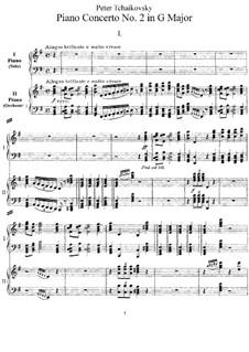 Konzert für Klavier und Orchester Nr.2 in G-Dur, TH 60 Op.44: Version for two pianos by Pjotr Tschaikowski