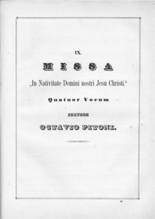 In Nativitate Domini nostri: Teile I-II by Giuseppe Pitoni