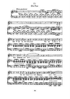Nr.13 Die Post: Für Stimme und Klavier by Franz Schubert