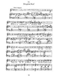 Nr.14 Der greise Kopf: Für Stimme und Klavier by Franz Schubert