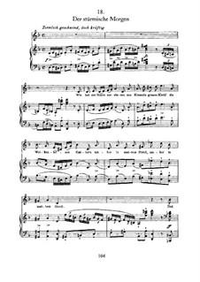 Nr.18 Der stürmische Morgen: Für Stimme und Klavier by Franz Schubert