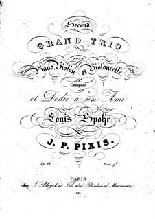 Klaviertrio in F-Dur, Op.86: Cellostimme by Johann Peter Pixis