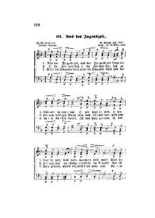 Aus der Jugendzeit, Op.22: Singpartitur by Robert Radecke