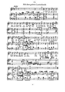 Nr.13 Mit dem grünen Lautenbande: Für Stimme und Klavier by Franz Schubert