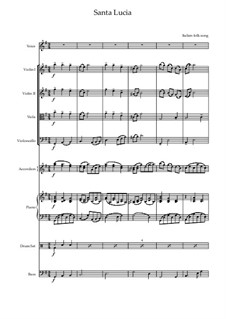 Santa Lucia: For chamber ensemble by folklore