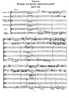 Konzert Nr.3 in g-Moll, HWV 291: Vollpartitur by Georg Friedrich Händel