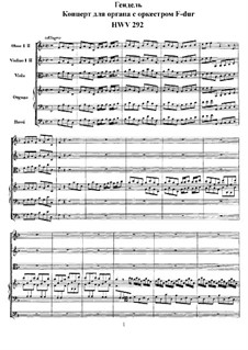 Konzert Nr.4 in F-Dur, HWV 292: Vollpartitur by Georg Friedrich Händel