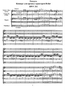 Konzert Nr.6 in B-Dur, HWV 311: Vollpartitur by Georg Friedrich Händel