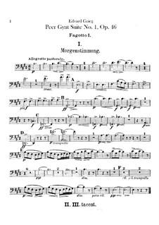 Suite Nr.1, Op.46: Fagottstimme by Edvard Grieg