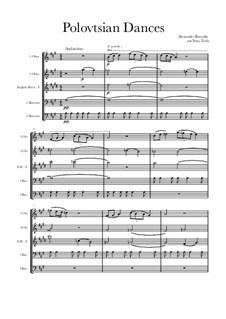 Die Polowetzer Tänze: For double reeds by Alexander Porfiryevich Borodin