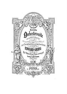 Suite Nr.1, Op.46: Bearbeitung für Cello und Klavier by Edvard Grieg