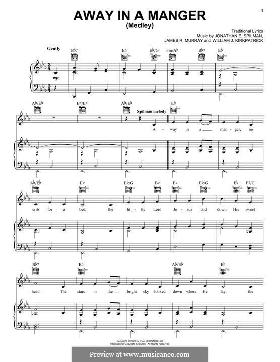 Away in a Manger: Für Stimme und Klavier (oder Gitarre) by folklore