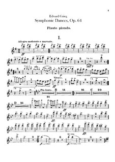 Vier sinfonische Tänze, Op.64: Flötenstimme by Edvard Grieg