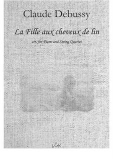 Nr.8 Das Mädchen mit dem flachsfarbenen Haar: For quintet by Claude Debussy
