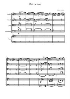 No.3 Clair de lune: For quintet (D Major) by Claude Debussy