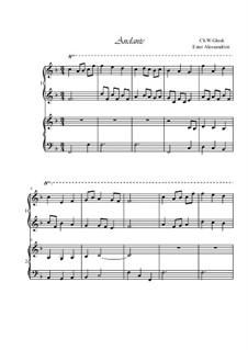 Andante: Für Klavier, vierhändig by Christoph Willibald Gluck