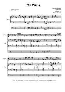 Palm Branches (The Palms): For flute or violin solo and organ by Jean-Baptiste Faure