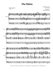 Palm Branches (The Palms): Für Tenorsaxophone und Orgel by Jean-Baptiste Faure