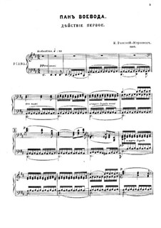 Pan Voyevoda, Op.59: Klavierauszug mit Singstimmen by Nikolai Rimsky-Korsakov
