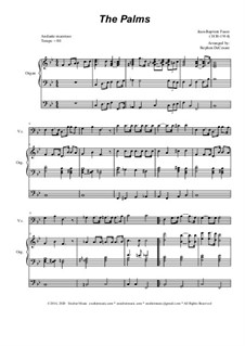 Palm Branches (The Palms): For cello solo and organ by Jean-Baptiste Faure