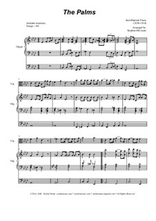 Palm Branches (The Palms): For viola solo and organ by Jean-Baptiste Faure
