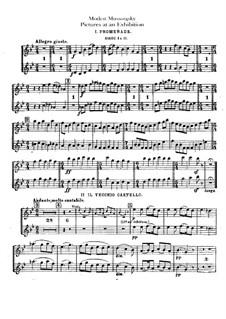Vollständiger Zyklus: Für Orchester – Englischhorn- und Oboenstimmen by Modest Mussorgski